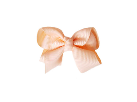 Small Snap Bowtastic Bow - Peach - Baby Wisp