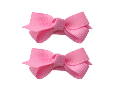 Small Snap Chelsea Boutique Bow - 2 pack - Bubblegum - Baby Wisp