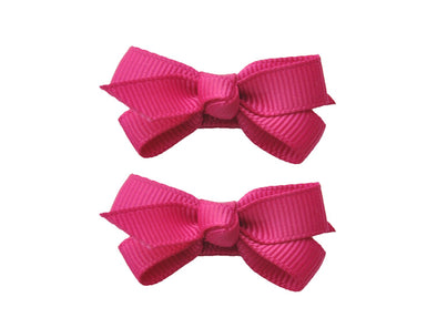 Small Snap Chelsea Boutique Bow - 2 pack - Fuchsia - Baby Wisp