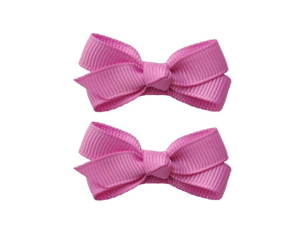 Small Snap Chelsea Boutique Bow - 2 pack - Rosebloom - Baby Wisp