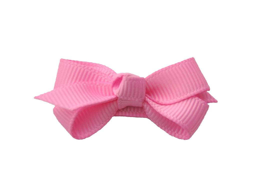 Small Snap Chelsea Boutique Bow - Single Hair Bow - Bubblegum - Baby Wisp
