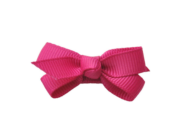 Small Snap Chelsea Boutique Bow - Single Hair Bow - Fuchsia - Baby Wisp