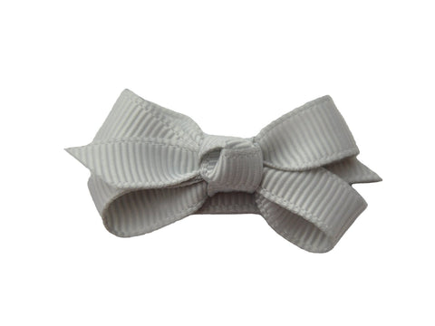 Small Snap Chelsea Boutique Bow - Single Hair Bow - Grey - Baby Wisp