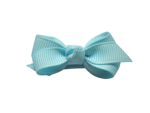 Small Snap Chelsea Boutique Bow - Single Hair Bow - Cinderella Blue - Baby Wisp
