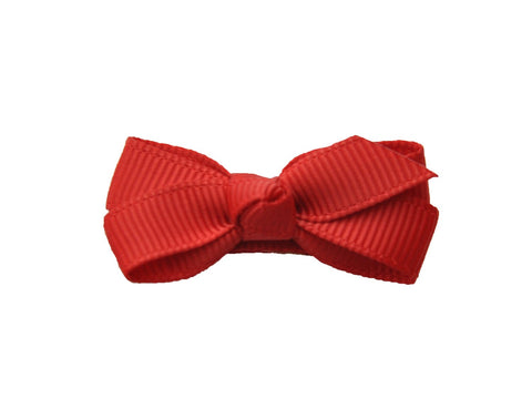 Small Snap Chelsea Boutique Bow - Single Hair Bow - Red