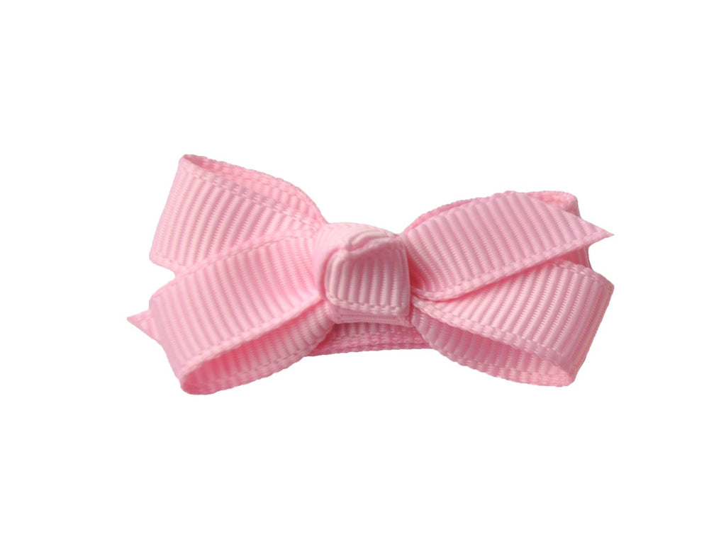 Small Snap Chelsea Boutique Bow - Single Hair Bow - Rose Petal Pink - Baby Wisp