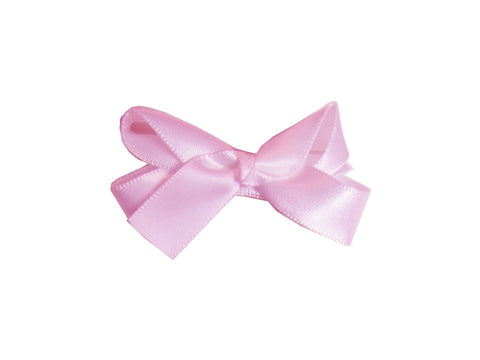 Small Snap Satin Boutique Baby Bow - Light Pink - Baby Wisp