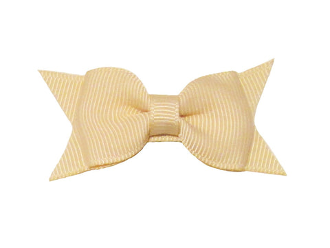 Small Snap Cadeau Bow - Single - Cream - Baby Wisp