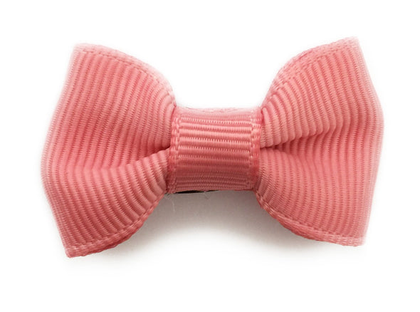 Small Snap Charlotte Bow - Single Hair Bow - Dusty Rose - Baby Wisp