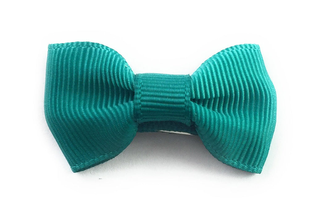 Small Snap Charlotte Bow - Single Hair Bow - Mallard Green