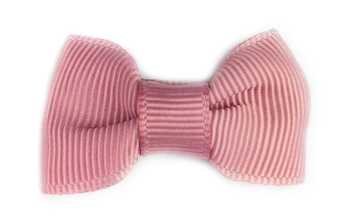Small Snap Charlotte Bow - Single Hair Bow - Rose Quartz Blush