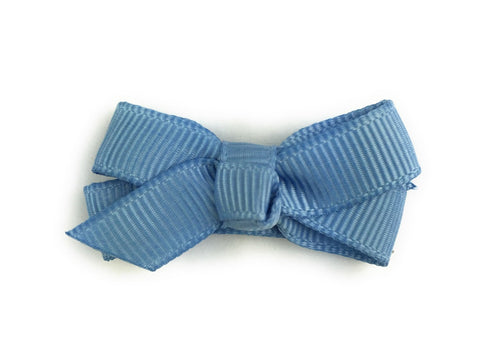 Small Snap Chelsea Boutique Bow - Single Hair Bow - French Blue - Baby Wisp