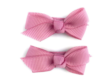 Small Snap Chelsea Boutique Bow - 2 pack - Wildrose - Baby Wisp