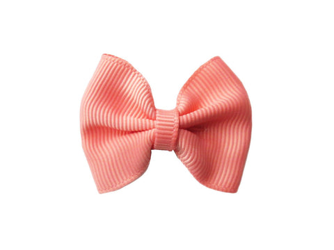 Small Snap Classic Baby Bow - Baby Wisp - coral