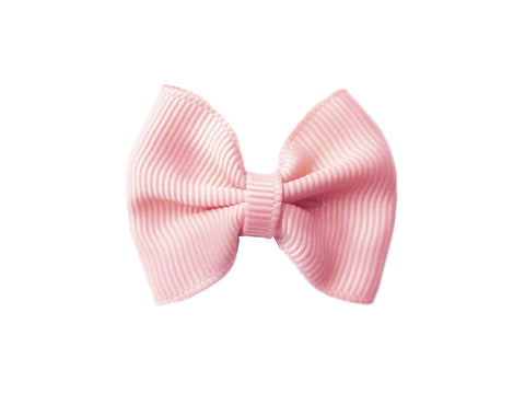 Small Snap Classic Baby Bow - Light Pink