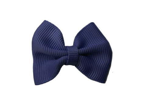 Small Snap Classic Baby Bow - Navy - Baby Wisp