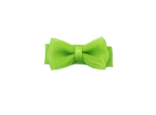 Small Snap Fancy Hair Bows - Single Hair Bow - Apple Green - Baby Wisp