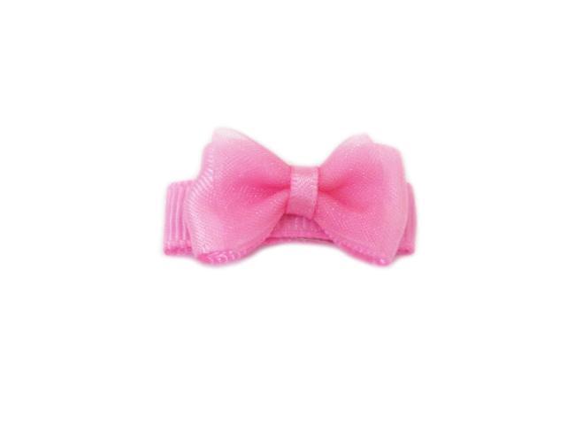 Small Snap Fancy Hair Bows - Single Hair Bow - Bubblegum - Baby Wisp