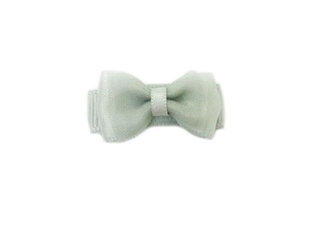 Small Snap Fancy Hair Bows - Single Hair Bow - Grey - Baby Wisp