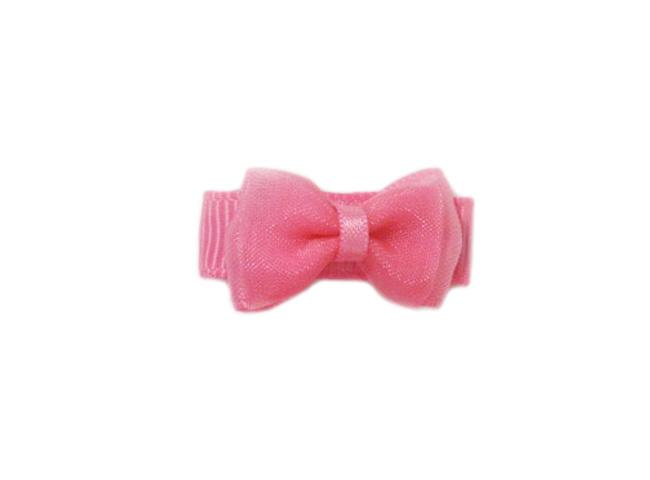 Small Snap Fancy Hair Bows - Single Hair Bow - Hot Pink - Baby Wisp