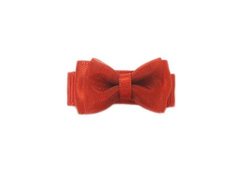 Small Snap Fancy Hair Bows - Single Hair Bow - Baby Wisp - red