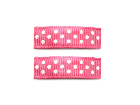 Little Girl Urban Polka Dots - Baby Wisp - hot-pink