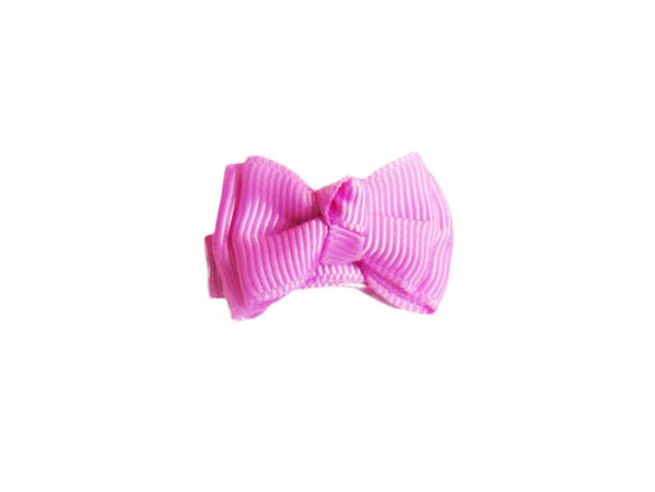 Small Snap Trendy Twist Hair Bow - Baby Wisp