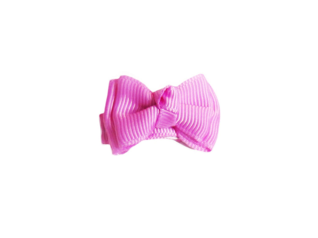 Small Snap Trendy Twist Hair Bow - Rosebloom - Baby Wisp