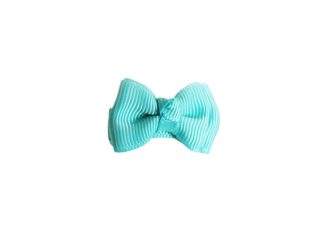 Small Snap Trendy Twist Hair Bow - Baby Wisp - tropic-aqua