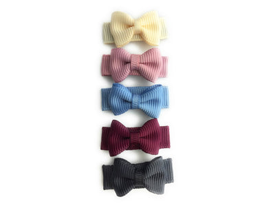 Small Snap Tuxedo Grosgrain Bows Collection - Victorian Tea - Baby Wisp