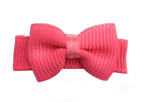 Grosgrain Tuxedo Bow Snap Clip Single - Passion Fruit - Baby Wisp