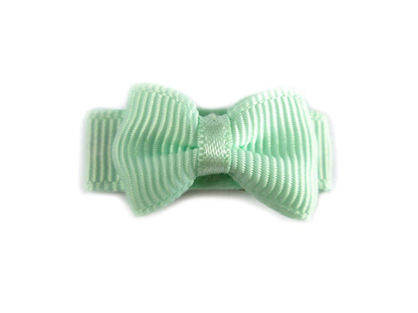Grosgrain Tuxedo Bow Snap Clip - Single Hair Bow - Baby Wisp
