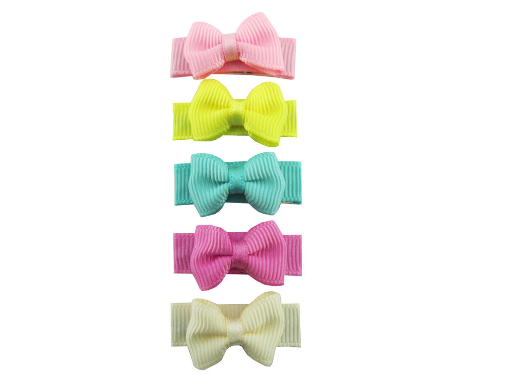 Small Snap Grosgrain Tuxedo Bows - Ice Cream Parlour - Baby Wisp