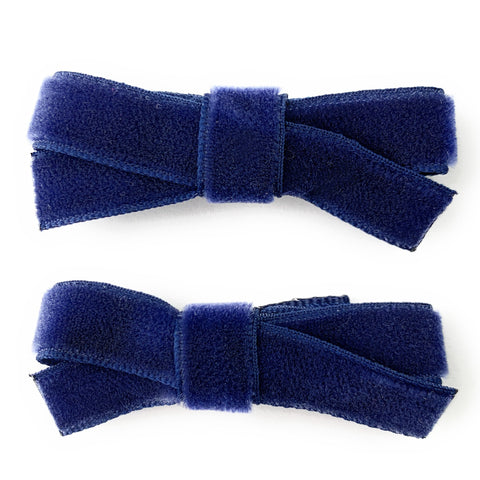 Small Snap Velvet Hand Tied Bows
