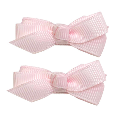 Small Snap Chelsea Boutique Bow - 2 pack - Ballet Pink - Baby Wisp