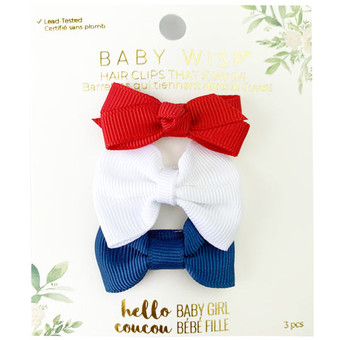 Memorial Day bows - 3 Mixed Style Patriotic Theme Baby Bows