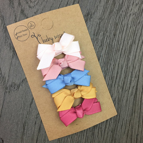 5 Small Snap Chelsea Boutique Bow Collection - Retro Bouquet - Baby Wisp