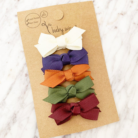 Small Snap Chelsea Bows - Baby Blogger - 5 Bow Gift Set - Baby Wisp