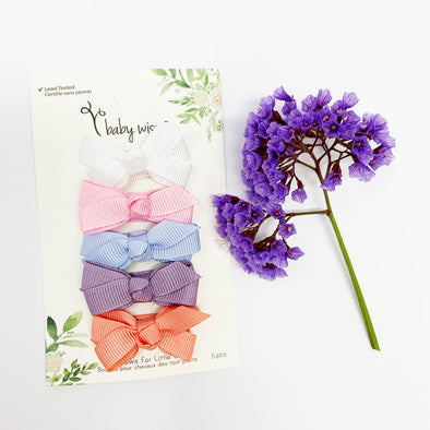 5 Small Snap Chelsea Boutique Bow Collection - C'est La Vie - Baby Wisp