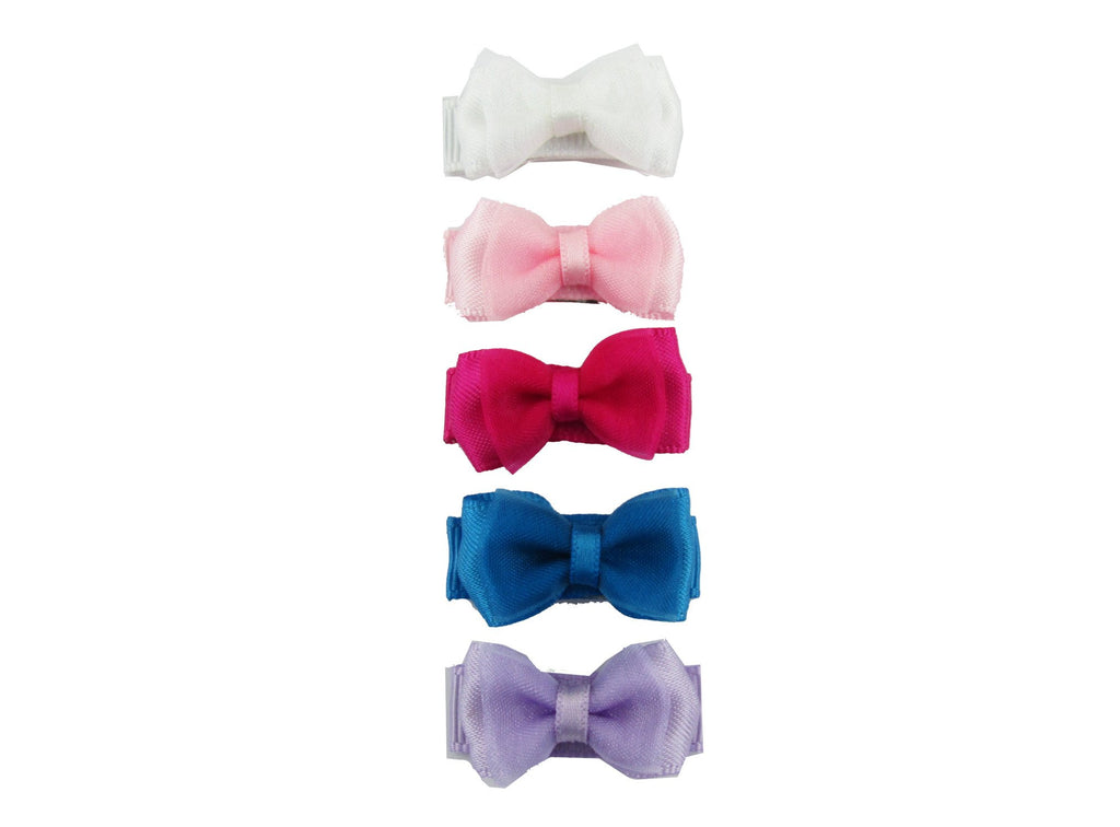 Small Snap Fancy Bows - Light Organza - Baby Wisp