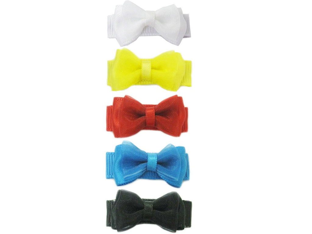 Small Snap Fancy Hair Bows - Snow White's Closet - Baby Wisp