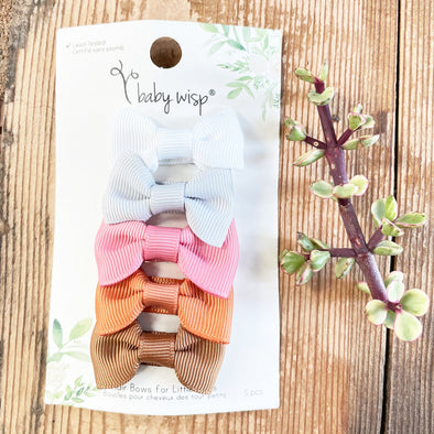 Small Snap Charlotte 5 Bow Collection - Gingerly - Baby Wisp