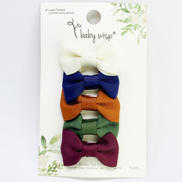 Small Snap Charlotte Bows - Baby Blogger - 5 Bow Gift Set - Baby Wisp