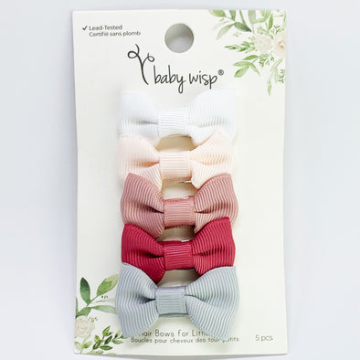 Small Snap Charlotte 5 Bow Collection - Wedding Bliss - Baby Wisp