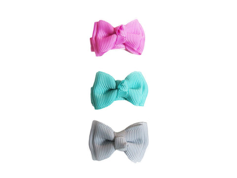 Small Snap Trendy Twist Bows - Daydream