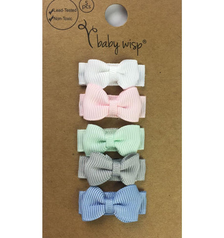 Small Snap Tuxedo Grosgrain Hair Bow Collection - Fairy Tale - Baby Wisp