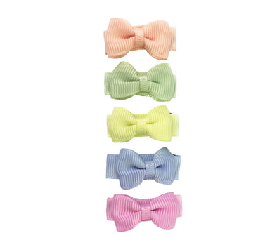 Small Snap Tuxedo Grosgrain Hair Bow Collection - Flower Fields - Baby Wisp