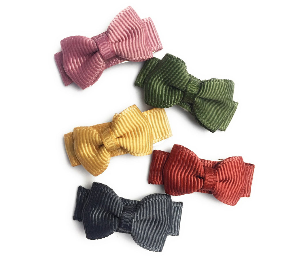 Small Snap Tuxedo Grosgrain Hair Bow Collection - Little & Brave - Baby Wisp