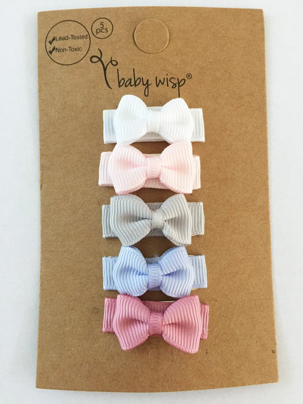 Small Snap Tuxedo Grosgrain Hair Bow Collection - Pixie - Baby Wisp