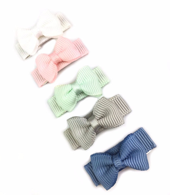Small Snap Tuxedo Grosgrain Hair Bow Collection  - Willow - Baby Wisp